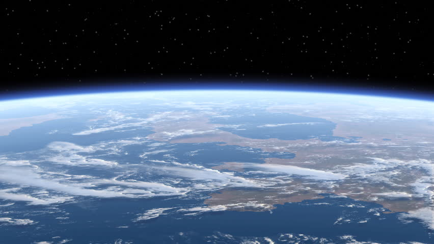 Flying Over The Earth. 3D Animation. Loop. Ultra High Definition. 4K. 3840x2160.