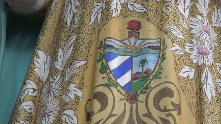 SANTA CLARA,CUBA-AUGUST 10,2014: Our Lady of Charity of El Cobre, patroness of Cuba in the Catholic relion or tradition. Also, known as Virgen de la Caridad del Cobre.