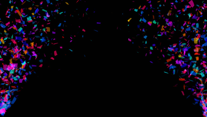 Animation of colorful falling confetti (alpha channel included)
