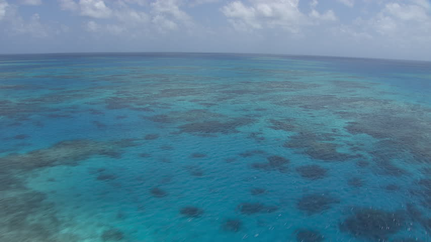 Aerial view of the Great Barrier Reef #7384432