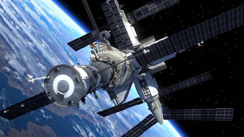astronaut orbiting space station - photo #14