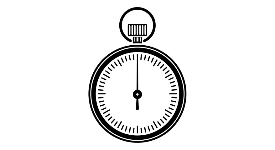 animation of black timer icon on white back  full hd video