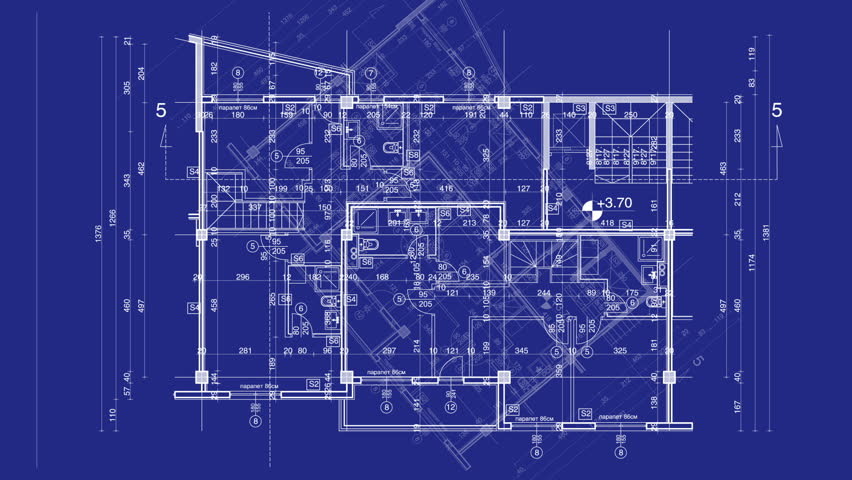 Abstract Architecture Background Blueprint House Plan