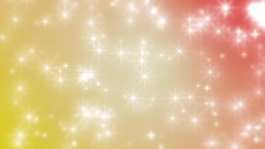 Magical Abstract Background - Red and Yellow Colors - Stars and Glitters    Shutterstock HD Video #7503115