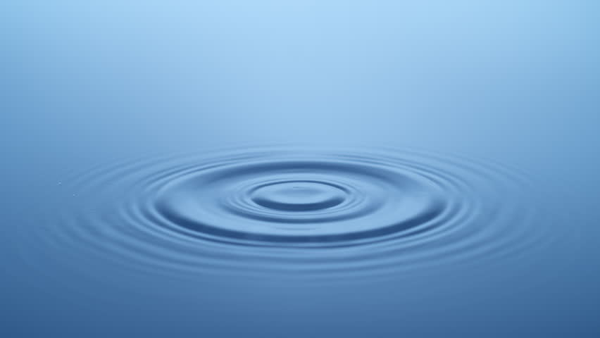 Water Drop making ripple shot with high speed camera, phantom flex 4K.