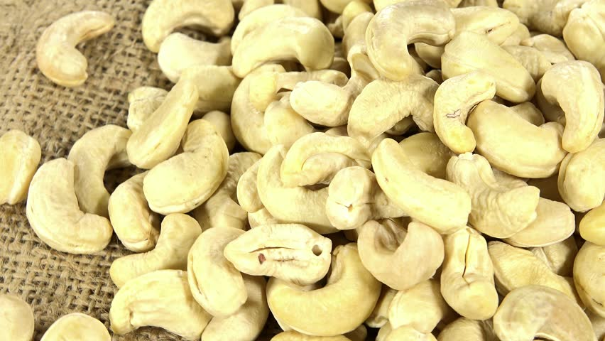 Cashew Nuts (seamless loopable) - 4K stock video clip