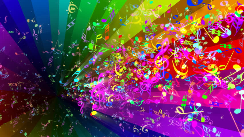 8589130490590 Rainbow Music Notes Wallpaper Hd Jpg: Rainbow Rotating Strips In Black Background Stock Footage