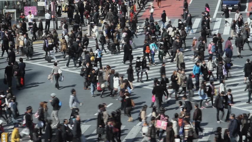 Shibuya Crossing,Time Lapse - HD stock video clip