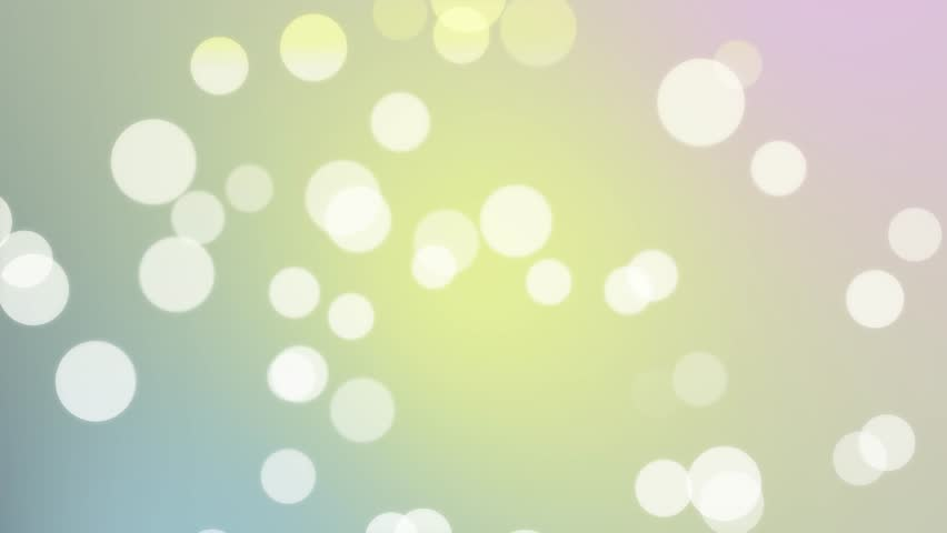 4K Seamless Looping White Large Particles Light Pink Blue Yellow Abstract Background Motion Graphics - News Style Blue Pink Yellow Colorful Abstract Backgrounds Orbs Circles