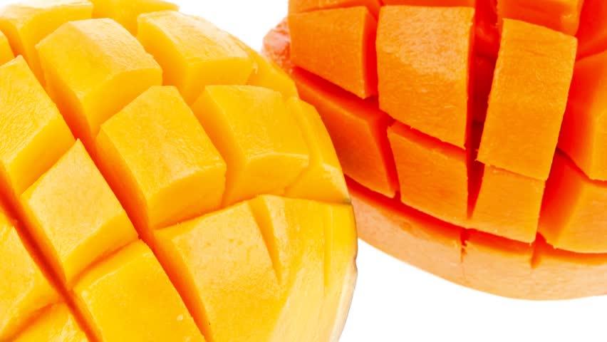 fresh raw carved mango 1920x1080 intro motion slow hidef hd