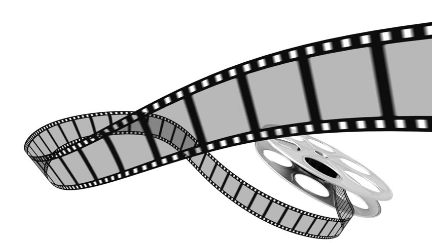 Film rolling out of a film reel.  - HD stock video clip