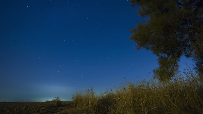 4k timelapse of starry sky and stars moving over lonely - Starry sky 4k ...