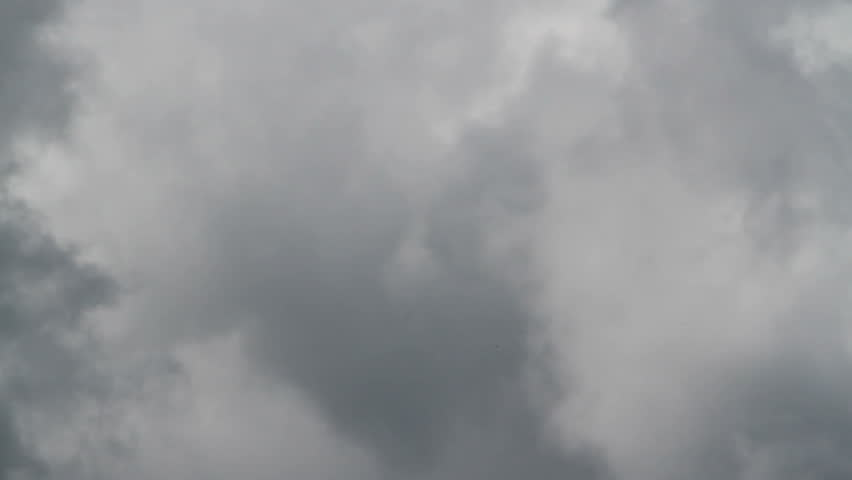 Rain clouds closeup, Gray and white, moving north to south, right to left. Facing west.