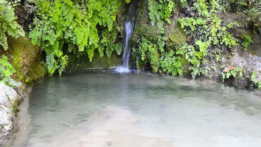 Waterfall of Nidri Greece - Lefkada island - HD stock footage clip