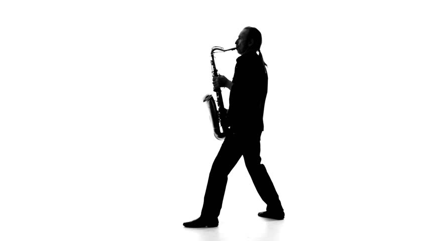 Man Playing Sax In Silhouette Stock Footage Video 6082619 ...
