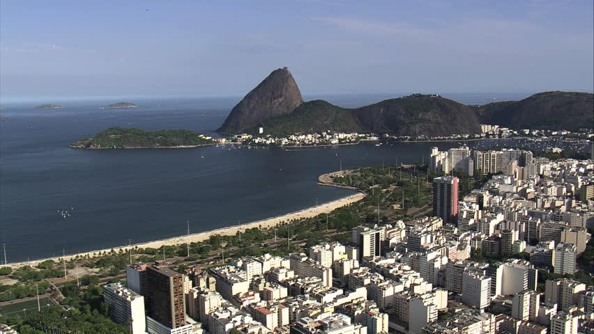 AERIAL- towards sugar loaf mountain, Rio de Janeiro, Brazil | Shutterstock HD Video #7733686