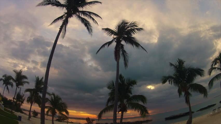 A Bahama Sunrise in Time Lapse Near Abaco