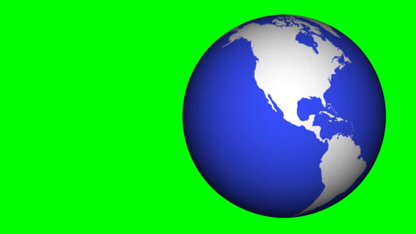 World globe in blue and white with a 360 degree rotation. Vertical. - HD stock video clip