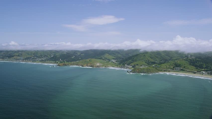 Aerial view of California Coastline along the Big Sur   Shutterstock HD Video #7773601