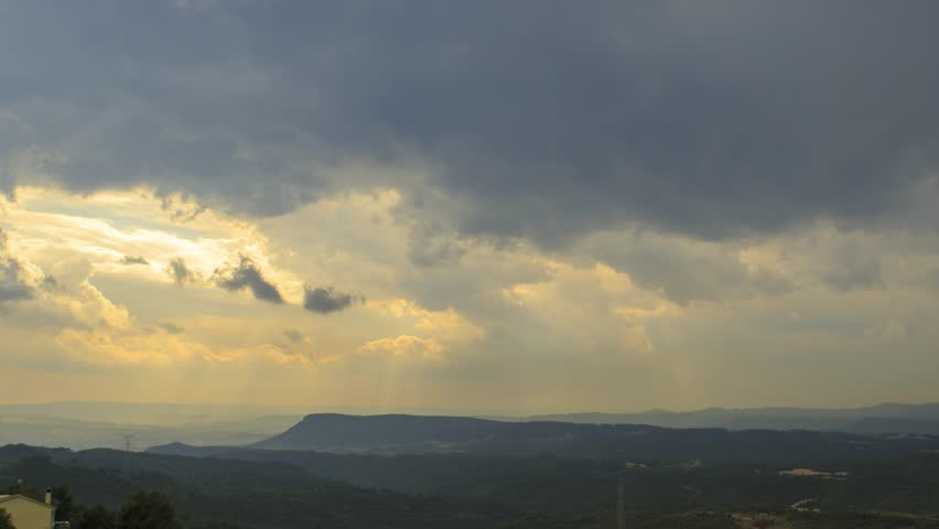 Storm and Rain timelapse footage filmed from Montserrat Parc, Catalonia, Spain
