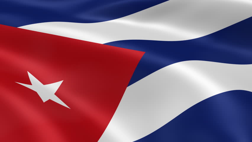 Cuban flag in the wind. Part of a series. - HD stock video clip