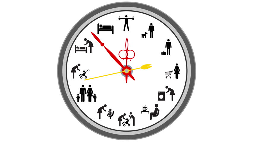 clock  second hand  animated clock in motion  stock