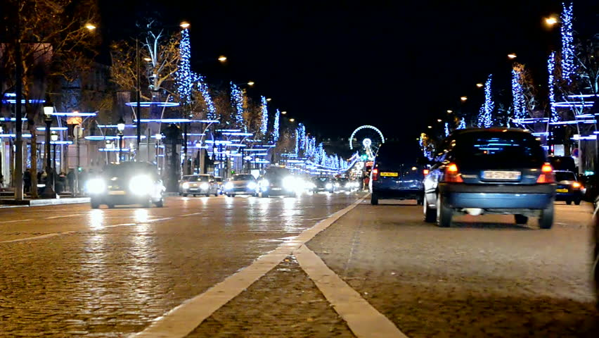 paris dec 31 avenue des champs elysees in paris decorated with christmas illumination in. Black Bedroom Furniture Sets. Home Design Ideas
