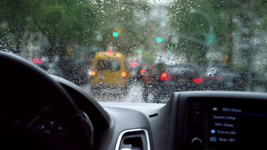 City Car Driving Rainy Day