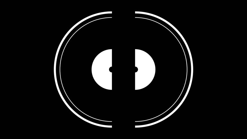 3 different HD motion graphics animations featuring white circles on a black background. Great for keying or masking! | Shutterstock HD Video #7841011