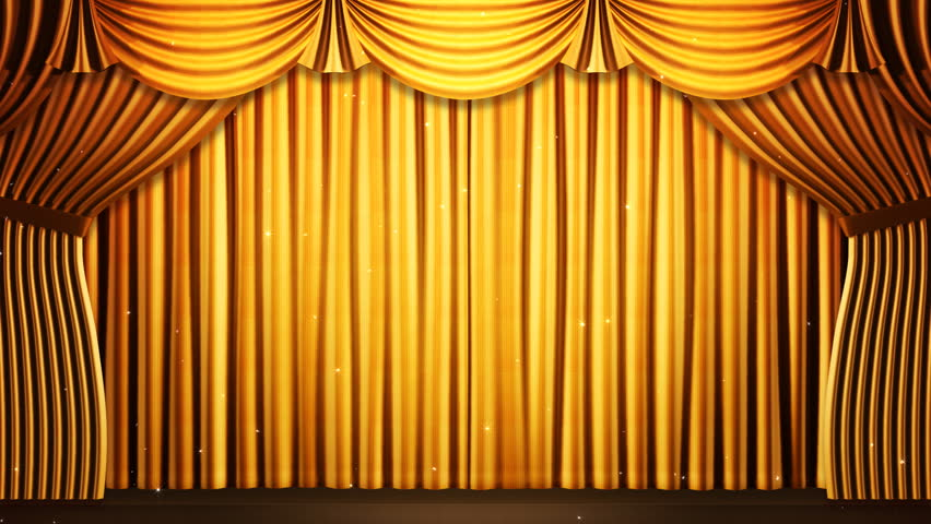 Pics for gold stage curtain background for Cortinas amarillas