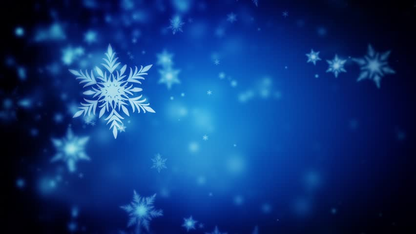 3d snowflakes falling stock footage video 245215 - Is blue a christmas color ...