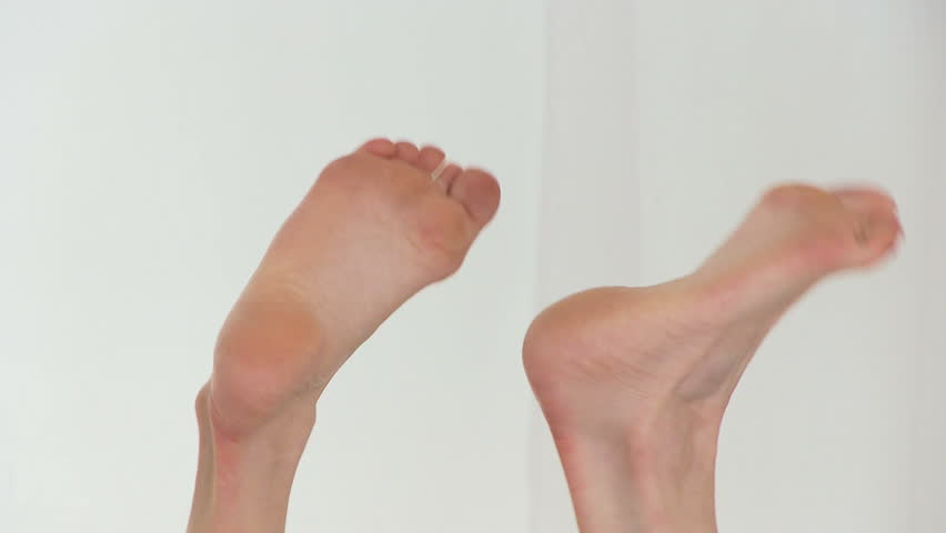 Woman's feet - HD stock video clip