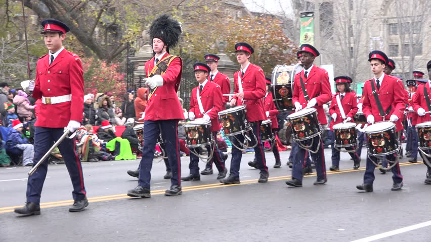 TORONTO,CANADA-NOVEMBER 16,2014: The Toronto Santa Claus Parade is a parade held annually in mid-November in Toronto, Ontario, Canada. More than a half million people attend the parade every year