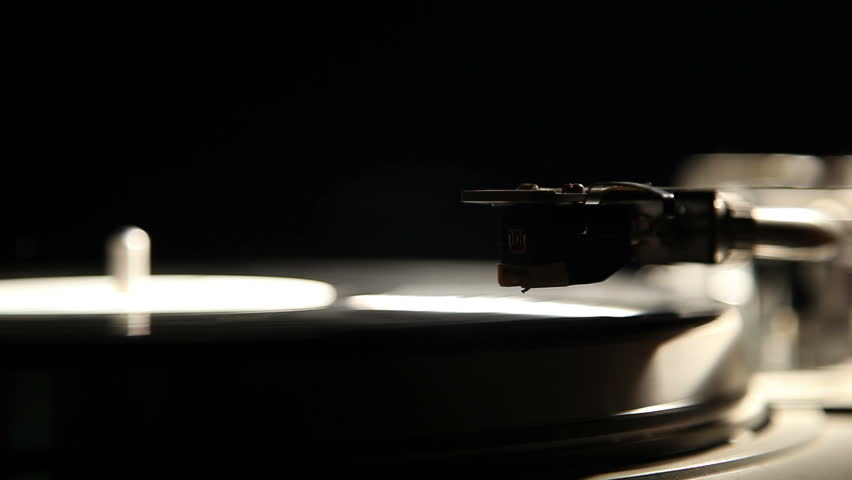 gramophone record on a black background 4