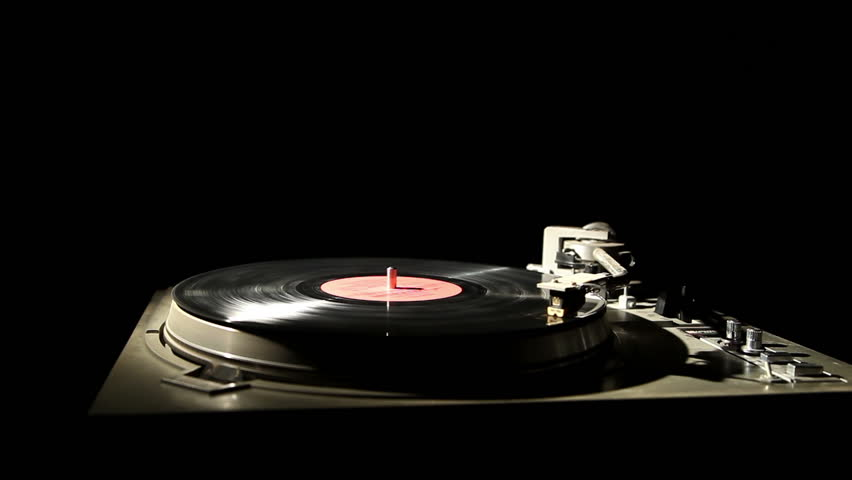 gramophone record on a black background 3
