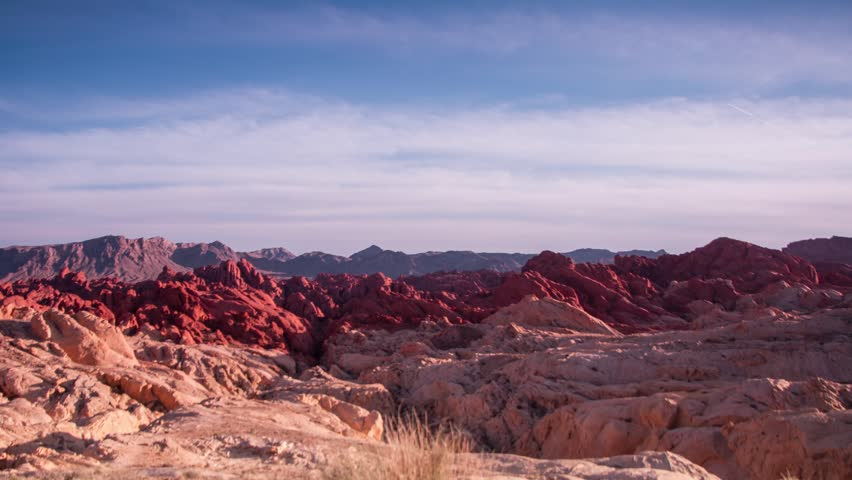Time Lapse of Moving clouds at Valley of Fire State Park in Nevada