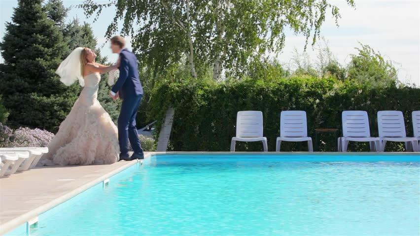 Swimmer wedding