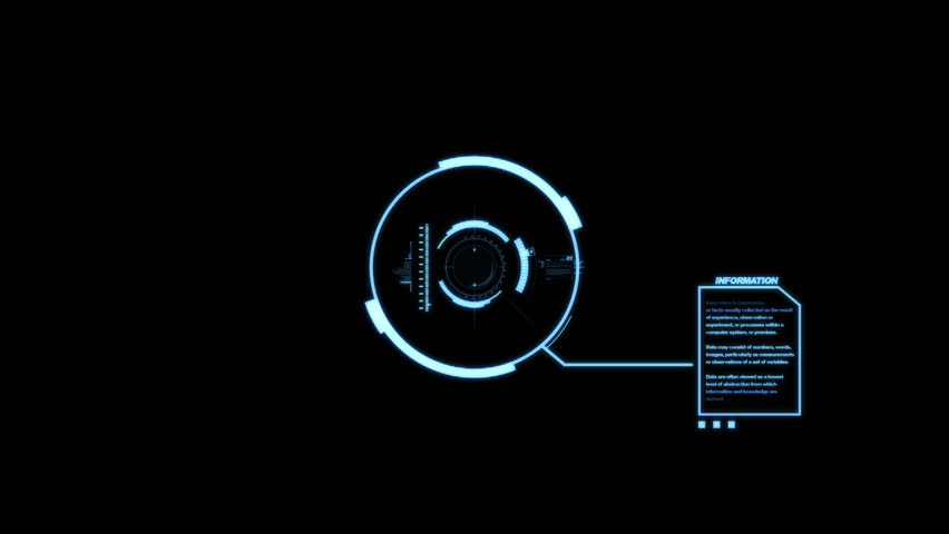 HUD Heads Up Display Scanner Animation on High Tech Black Background | Shutterstock HD Video #8001409