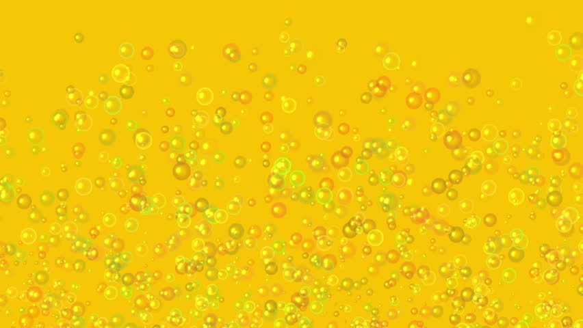 slow motion of transparent air bubbles rising on orange backgrounds - HD stock footage clip