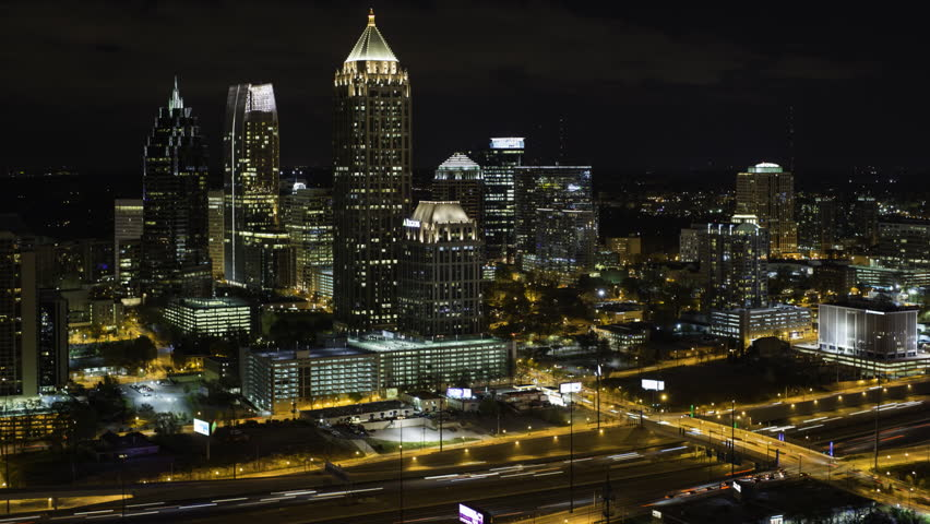 Atlanta (IL) United States  city photos : ... Atlanta Skyline, Georgia, United States Of America Stock Footage Video