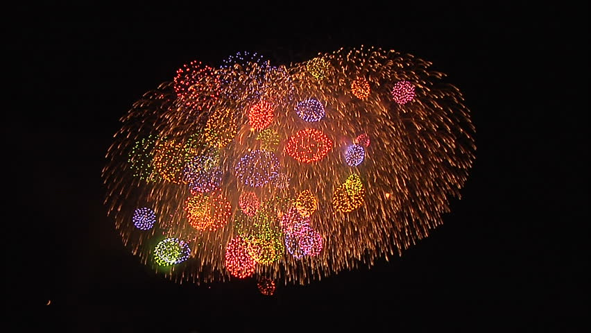 Beautiful Japanese Fireworks | Shutterstock HD Video #8086324