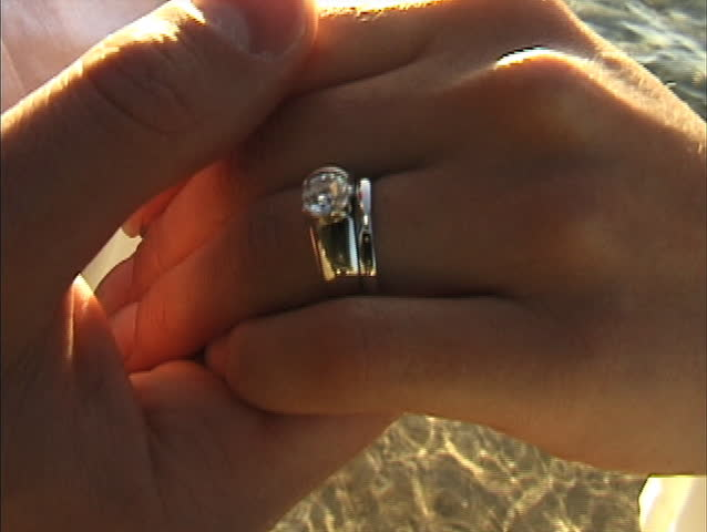 Close up on Woman's wedding ring - SD stock footage clip