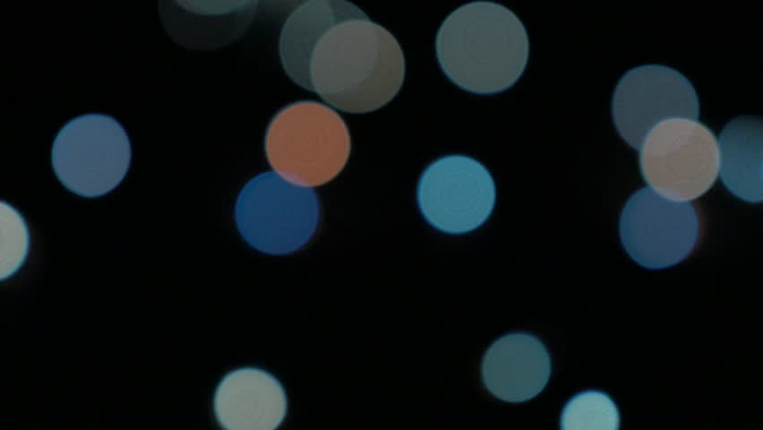 Christmas decorative blue sparkles 4K 2160p UHD panning video - Electric blue dot lights for decorations 4K 3840X2160 UHD footage - 4K stock video clip