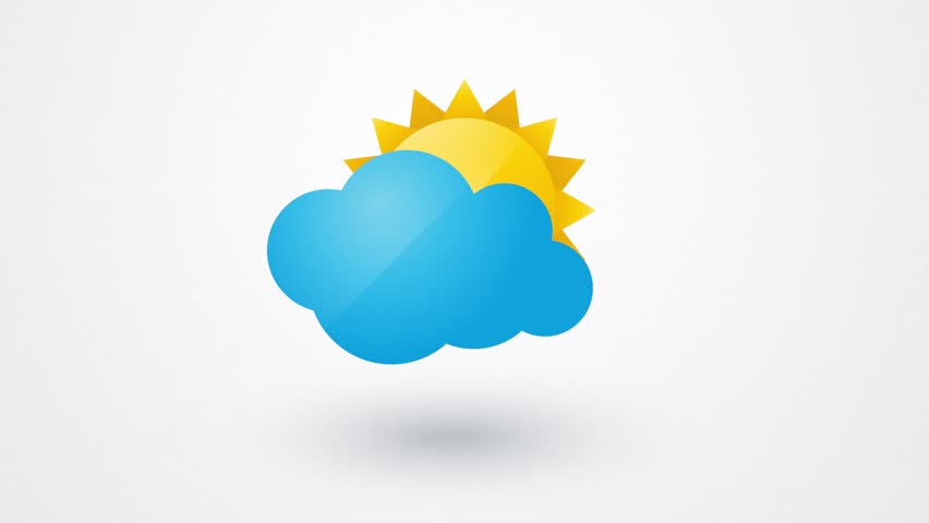 Cartoon Sun And Clouds Stock Footage Video 352174 ...
