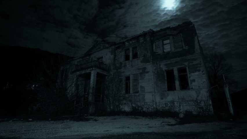 Abandoned House At Night Stock Footage Video 8146501 ...