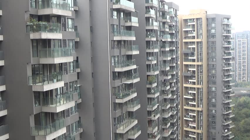 A Window Of A Shabby Apartment In A Poor Neighborhood In China Stock Footage