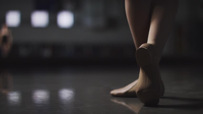 Ballet, Ballerina Dancer spins elegantly in a dance studio in slow motion | Shutterstock HD Video #8204980