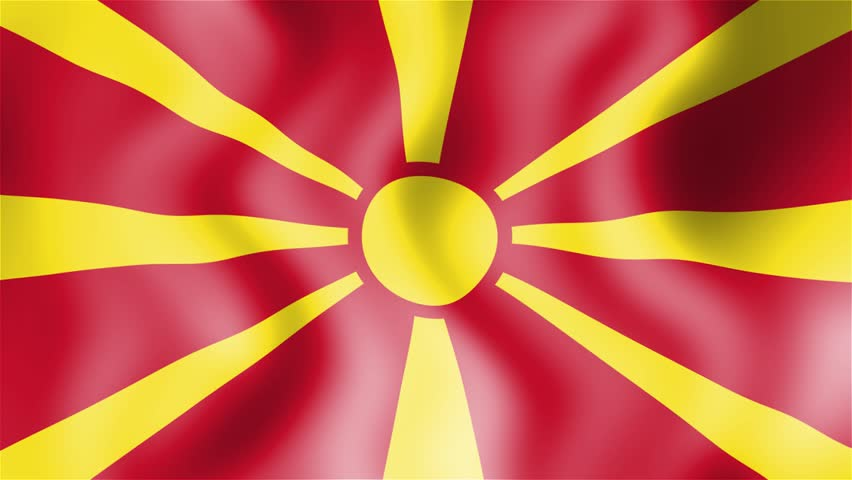 Macedonia+flag footage...