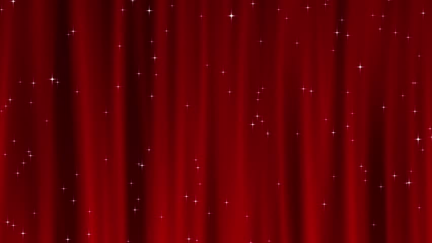 animated red stage curtain with stars stock footage video