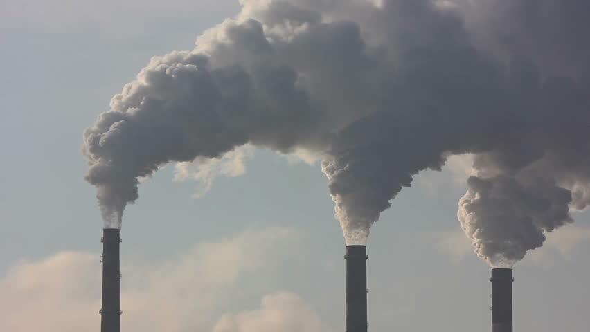 chimney smoke background - HD stock video clip